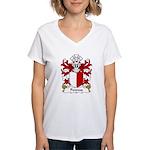 Penrees Family Crest Women's V-Neck T-Shirt