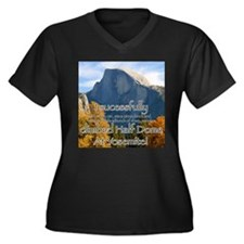 I climbed Half Dome Women's Plus Size V-Neck Dark