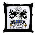 Penmarch Family Crest Throw Pillow