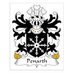 Penarth Family Crest Small Poster