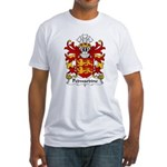 Pedwardine Family Crest  Fitted T-Shirt