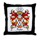 Peake Family Crest Throw Pillow