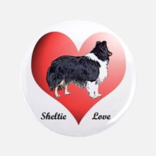 "Sheltie Love 3.5"" Button"