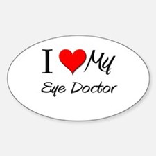 I Heart My Eye Doctor Oval Decal