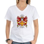 Owain Family Crest Women's V-Neck T-Shirt