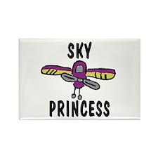 Sky Princess Rectangle Magnet