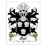 Olaf Family Crest Small Poster