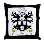 Olaf Family Crest Throw Pillow