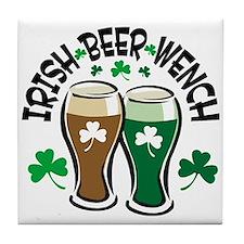 Irish Beer Wench Tile Coaster