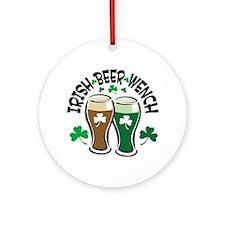 Irish Beer Wench Ornament (Round)