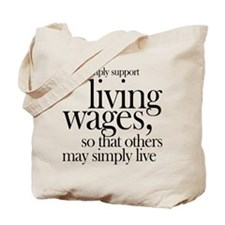Living Wages for all Tote Bag