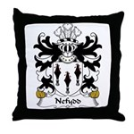 Nefydd Family Crest Throw Pillow