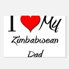 I Love My Zimbabwean Dad Postcards (Package of 8)