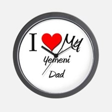 I Love My Yemeni Dad Wall Clock