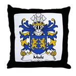 Mule Family Crest Throw Pillow