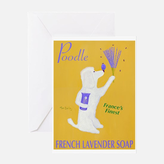 Poodle French Lavender Soap Greeting Card