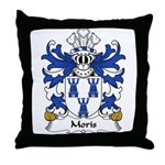 Moris Family Crest Throw Pillow