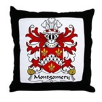 Montgomery Family Crest Throw Pillow