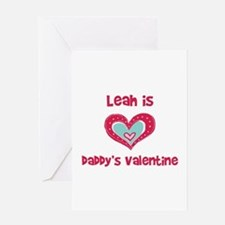 Leah is Daddy's Valentine Greeting Card