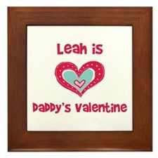 Leah is Daddy's Valentine Framed Tile