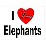 I Love Elephants Small Poster