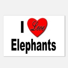 I Love Elephants Postcards (Package of 8)