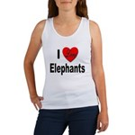 I Love Elephants Women's Tank Top