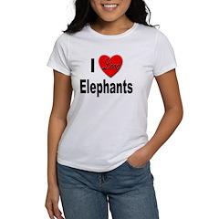 I Love Elephants Tee
