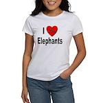 I Love Elephants (Front) Women's T-Shirt