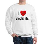 I Love Elephants (Front) Sweatshirt