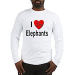I Love Elephants (Front) Long Sleeve T-Shirt