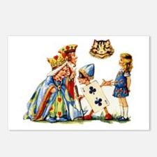 QUEEN & CHESHIRE CAT Postcards (Package of 8)