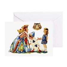 QUEEN & CHESHIRE CAT Greeting Card