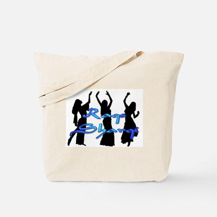 Raqs Sharqi Blue Tote Bag