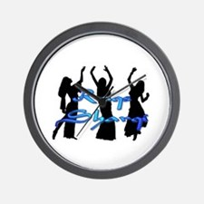 Raqs Sharqi Blue Wall Clock