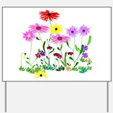 Flower Bunches Yard Sign