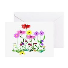 Flower Bunches Greeting Card