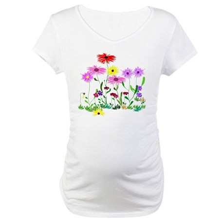 Flower Bunch Maternity T-Shirt