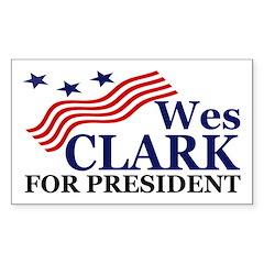 Wes Clark for President (car sticker)