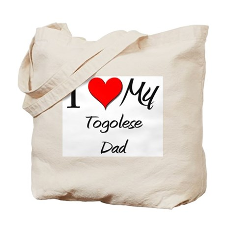 I Love My Togolese Dad Tote Bag