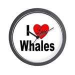 I Love Whales for Whale Lovers Wall Clock