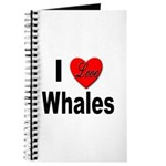 I Love Whales for Whale Lovers Journal