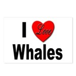 I Love Whales for Whale Lovers Postcards (Package