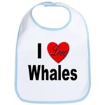I Love Whales for Whale Lovers Bib