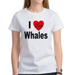 I Love Whales (Front) Women's T-Shirt