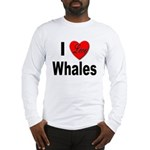 I Love Whales (Front) Long Sleeve T-Shirt