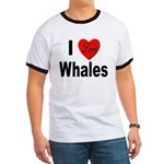 I Love Whales (Front) Ringer T