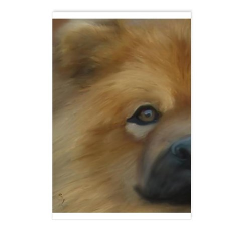 Beautiful Side View Chow Chow Postcards (Package o