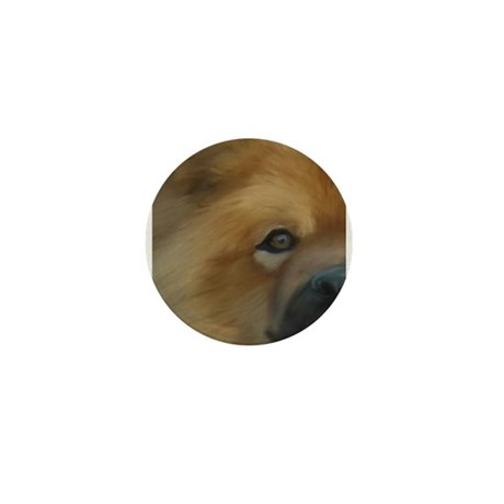 Beautiful Side View Chow Chow Mini Button (100 pac