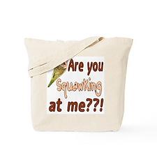 Squawking Quaker Parrot Tote Bag